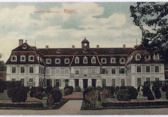 view of the castle around 1918, colored